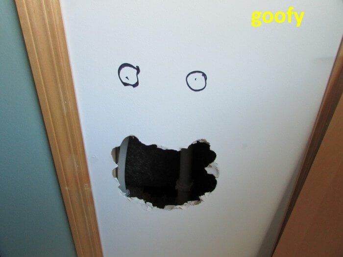 Plumbing - access panel goofy