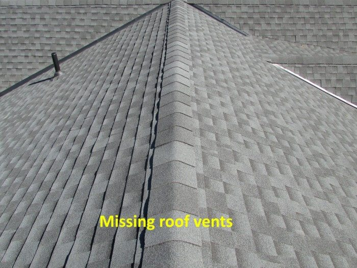 Roof - missing roof vents