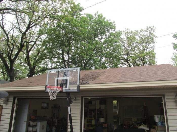 Magnifying glass basketball hoop