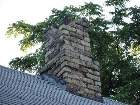 Missing bricks at chimney