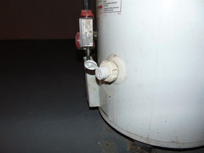Water Heater Drain Capped
