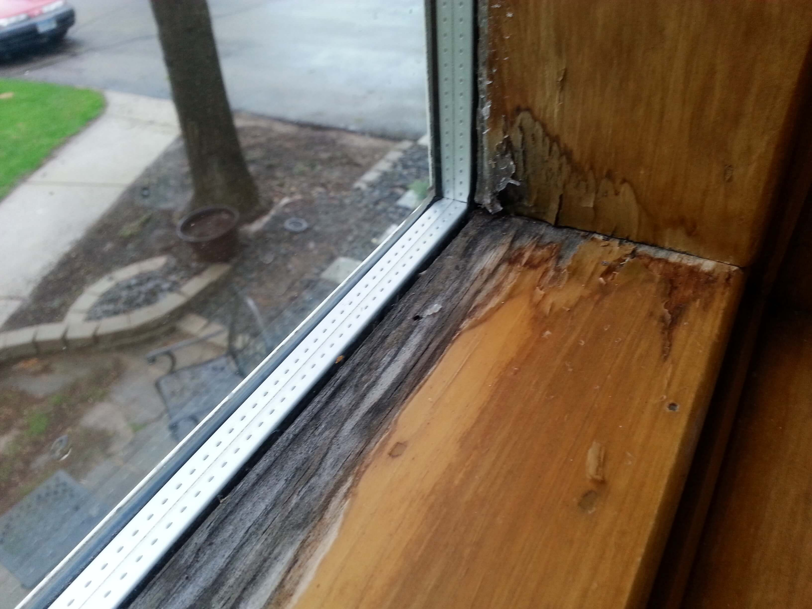 Water Stained Window Sash