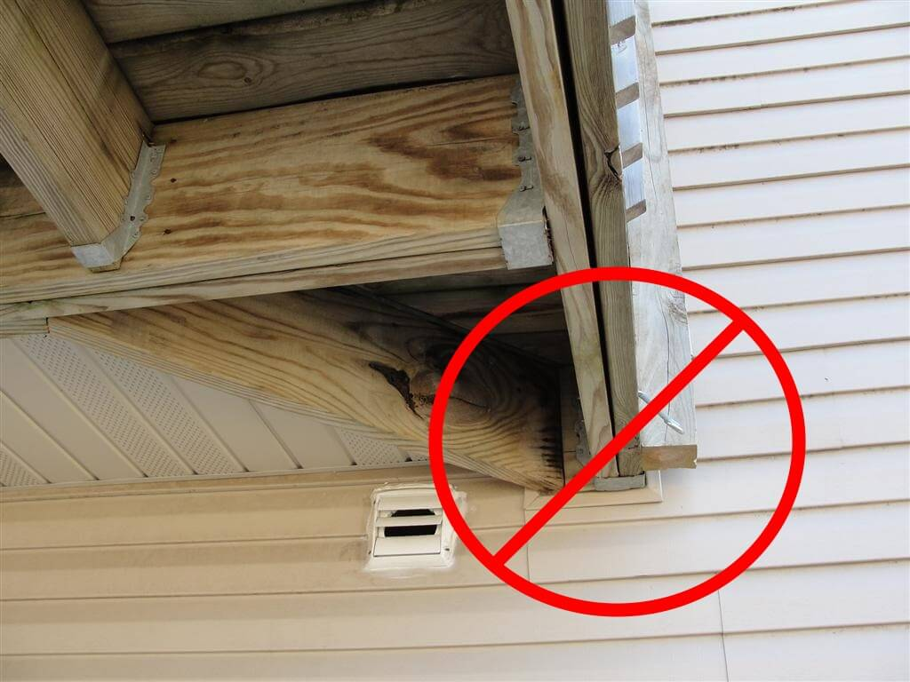 Home Inspector New Building Code Rules For Decks In Minnesota Detatched Wiring Diagram No Girders Supported From Ledgerboard